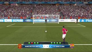 getlinkyoutube.com-UEFA Champions League Final FC.Barcelona VS Manchester United Pro Evolution Soccer 2014 Gameplay HD