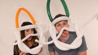 getlinkyoutube.com-BALLOON MODELLING: CHALLENGE JIM & ZOELLA