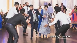 getlinkyoutube.com-Sukha & Jasmeet | Surprise Engagement Performance