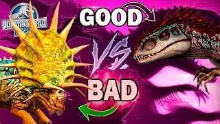 GOOD VS BAD! - Jurassic World The Game - HYBRID Matchup *WITH COMMENTARY* HD