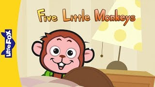 getlinkyoutube.com-Five Little Monkeys Jumping On The Bed | Nursery Rhymes | By Little Fox
