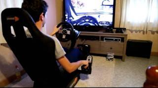 getlinkyoutube.com-Lorenzo Ft. PLayseat GT + G27 logitech Racing Wheel