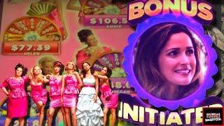 getlinkyoutube.com-LIVE PLAY on Bridesmaids Slot Machine with Bonuses and Big Win!!!