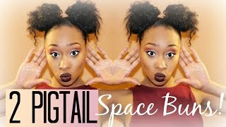 getlinkyoutube.com-How To:| Two Pigtails Space Buns