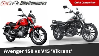 getlinkyoutube.com-Bajaj V15 vs Avenger 150 Comparison Review