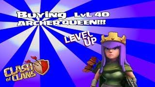 getlinkyoutube.com-Clash of clans - Buying Lvl 40 Archer Queen (300k special)