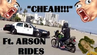 getlinkyoutube.com-POLICE CAR CHEAH BOMBS & BEACH BUM FUN