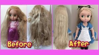 getlinkyoutube.com-HOW TO FIX DOLL HAIR - restore tangled, frizzy, messy doll hair