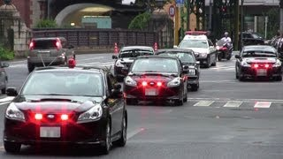 getlinkyoutube.com-警視庁 警護車 BMレガシィで固めた皇族車列  覆面パトカー POLICE CAR SUBARU LEGACY 2013.8.21