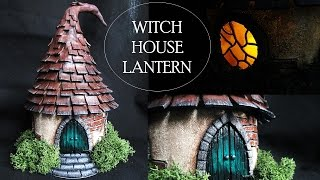 getlinkyoutube.com-DIY Polymer Clay Witch House Lantern/Jar Tutorial // Maive Ferrando