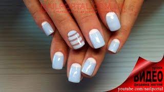 getlinkyoutube.com-Дизайн ногтей гель-лак shellac - Лунный маникюр + роспись (видео уроки дизайна ногтей)
