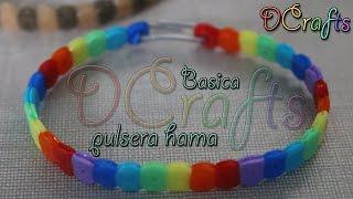 getlinkyoutube.com-COMO HACER PULSERA DE HAMA PERLER BEADS BASICA ORIGINAL MANUALIDADES DIY