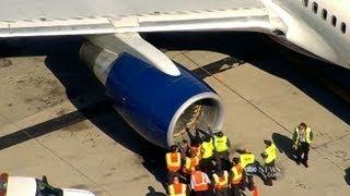 getlinkyoutube.com-Jet Hits Birds, Makes Emergency Landing
