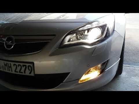Opel Astra J Nebelscheinwerfer mit gelben Limastar Leuchtmitteln