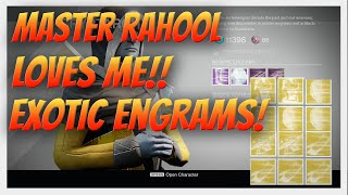 "getlinkyoutube.com-Destiny ""Getting 310 Exotics!"" Exotic Engram Opening Pizza Party. 11 Exotic Engrams."