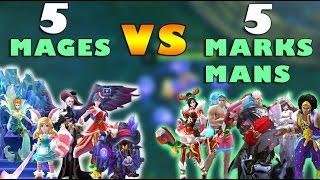Mobile Legends 5 Mages VS 5 Marksmans