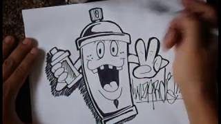 getlinkyoutube.com-HOW TO DRAW A SIMPLE SPRAYCAN CHARACTER.