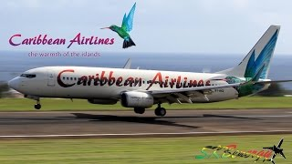 getlinkyoutube.com-Caribbean Airlines 737-800 in action @ St. Kitts Robert L. Bradshaw Int'l Airport