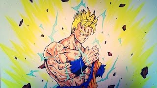 getlinkyoutube.com-Drawing Future Gohan SSJ2 | TolgArt vs DibujAme Un | Drawing Battle!