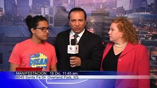 La abogada Jessica Piedra y Victor hacen una invitación para una marcha en favor a los dreamers