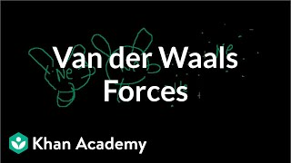 Van der Waals forces   States of matter and intermolecular forces   Chemistry   Khan Academy