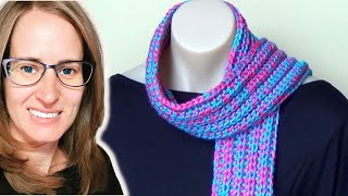 getlinkyoutube.com-Ribbed Scarf Crochet Tutorial - Easy