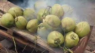 getlinkyoutube.com-มาดูวิธีเผามะพร้าวน้ำหอมของชาวบ้าน Coconut perfume