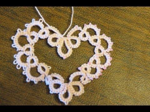 Needle Tatting Valentines Heart
