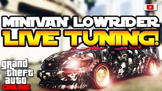 getlinkyoutube.com-GTA 5 Online Lowriders - Vapid Minivan Custom Lowrider Live Tuning! [PlayStation 4, Deutsch]