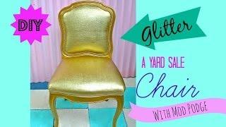 getlinkyoutube.com-How to glitter upholsterd Furniture!