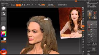 getlinkyoutube.com-Zbrush Fiber Long hair