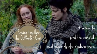 getlinkyoutube.com-Sewing Together the Ends of the Outlander Claire Cowl + Other Chunky Cowls