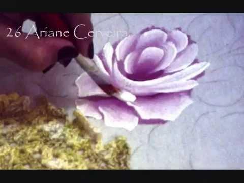 Pintura em Tecido - Passo a passo de Rosas em Tecido