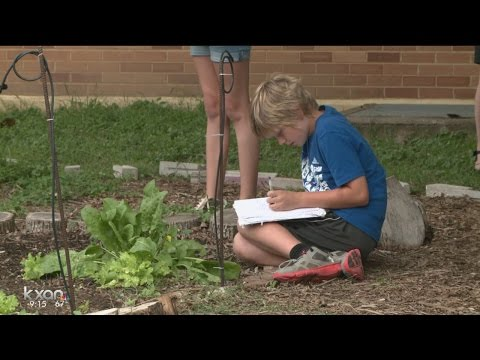 Austin students getting a lesson in gardening with Odd Duck