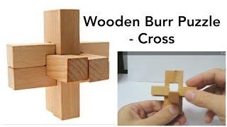 getlinkyoutube.com-Burr Puzzle 3D Wooden Cross - Solution