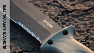 getlinkyoutube.com-Gerber LMF II Review - Best Survival Knife for the Money?