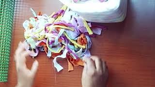 getlinkyoutube.com-40. Manualidades: Como hacer alfombra con trapillo (Reciclaje) Ecobrisa