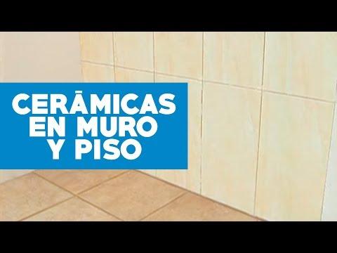 ¿Cómo instalar ceramicas en muro y piso?