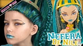 Monster High Nefera De Nile Doll Costume Makeup Tutorial for Halloween or Cosplay  |  KITTIESMAMA