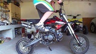 getlinkyoutube.com-Mini Cross 124cc | Pitbike Minibike | Mały motor motocykl crossowy | Motorcycle exhaust engine