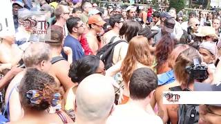getlinkyoutube.com-New York City Go Topless Pride Day Parade