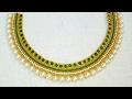 How To Make Bridal Necklace  Designer Necklace  DIY  Chokar  Home Made Tutorial