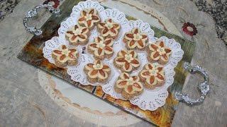 getlinkyoutube.com-حلوة الوردة باللويزات  Gâteau aux amandes