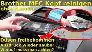 getlinkyoutube.com-Brother MFC Druckkopf reinigen ohne Ausbau - Ausdruck ist streifig