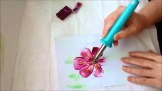 getlinkyoutube.com-Painting Flowers Art In Wax