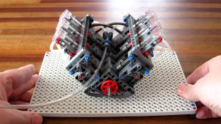 getlinkyoutube.com-Lego Pneumatic Engine - simple V6