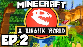 getlinkyoutube.com-Jurassic World: Minecraft Modded Survival Ep.2 - UDDERSHOT!!! (Rexxit Modpack)