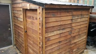 getlinkyoutube.com-Shed from FREE pallets: Timber Framing part 1