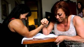 getlinkyoutube.com-Female Bodybuilders Arm Wrestling