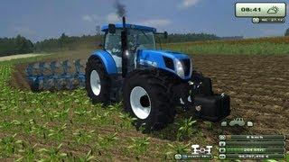 getlinkyoutube.com-Farming simulator 2013 New Holland T7.220 Aratura MIG MAP